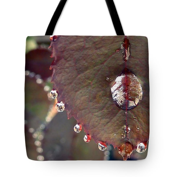 Jeweled Leaves Tote Bag by Patricia Strand