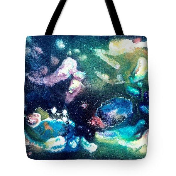 Jeweled Pegasus Tote Bag by Lee Pantas