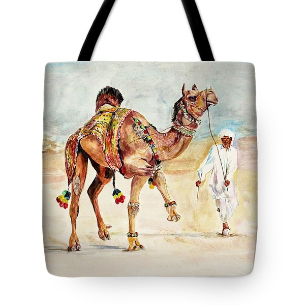 Jewellery And Trappings On Camel. Tote Bag