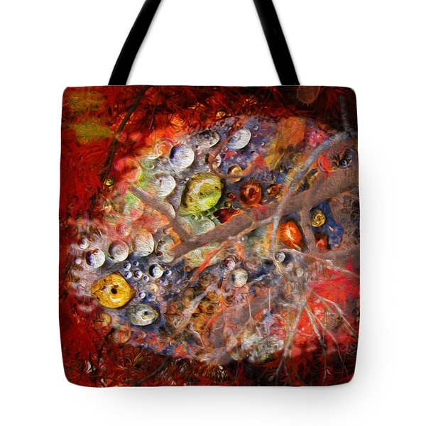 Jewels And The Japanese Maple Tote Bag