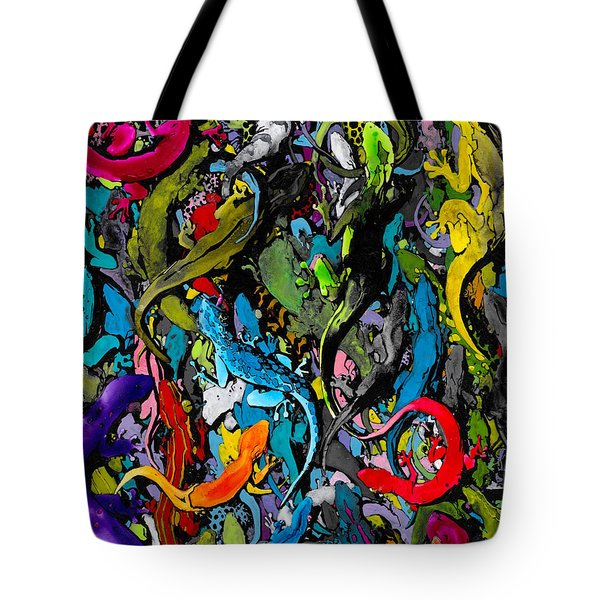 Jewels Of The Demon City Swarm Tote Bag