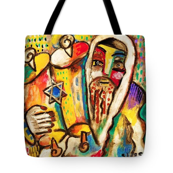 Jewish Celebrations Rejoicing In The Torah Tote Bag