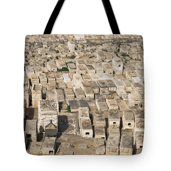 Jewish Cemetery On Mount Of Olives Tote Bag