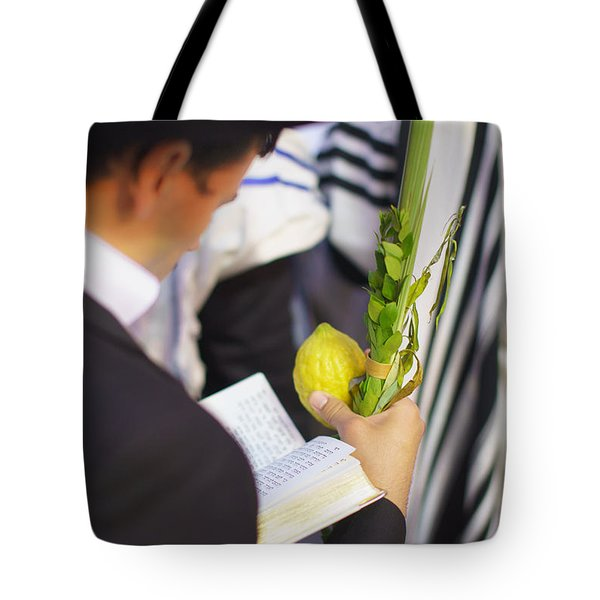 Jewish Sunrise Prayers At The Western Wall 1 Tote Bag