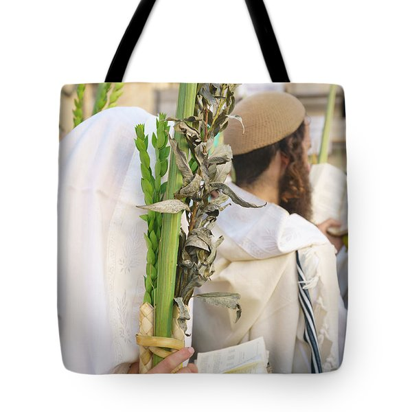 Jewish Sunrise Prayers At The Western Wall, Israel 11 Tote Bag