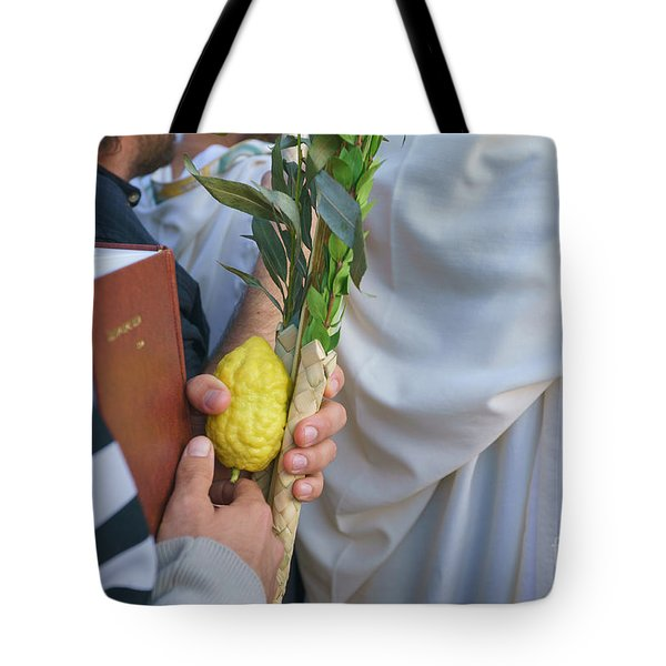 Jewish Sunrise Prayers At The Western Wall, Israel 12 Tote Bag