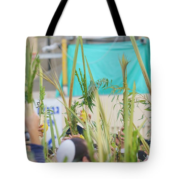 Jewish Sunrise Prayers At The Western Wall, Israel 13 Tote Bag