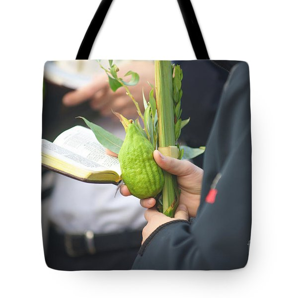 Jewish Sunrise Prayers At The Western Wall, Israel 3 Tote Bag