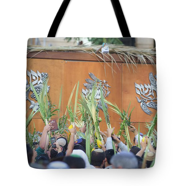 Jewish Sunrise Prayers At The Western Wall, Israel 4 Tote Bag