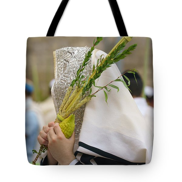 Jewish Sunrise Prayers At The Western Wall, Israel 5 Tote Bag