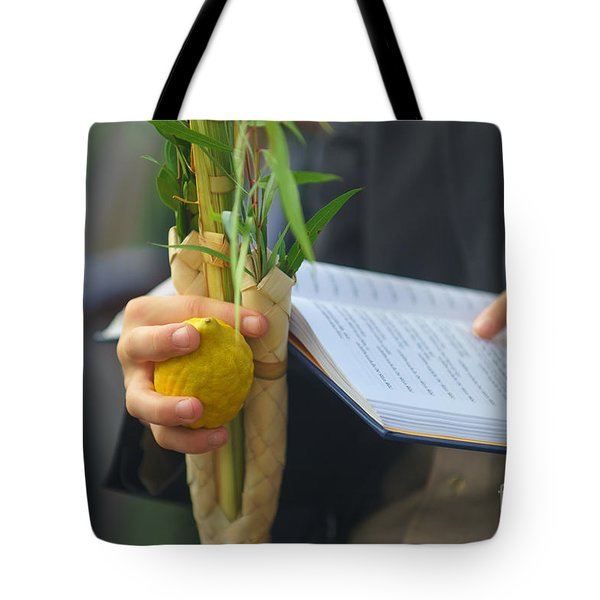 Jewish Sunrise Prayers At The Western Wall, Israel Tote Bag