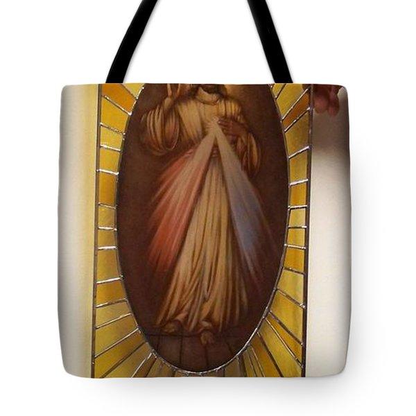 Jezu Ufam Tobie Tote Bag