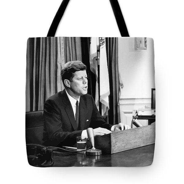 Jfk Addresses The Nation  Tote Bag by War Is Hell Store