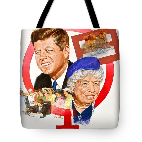 Jfk And Elenore Roosevelt  Tote Bag