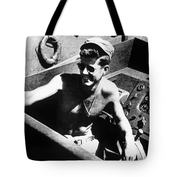 Jfk On Pt 109 Tote Bag by War Is Hell Store