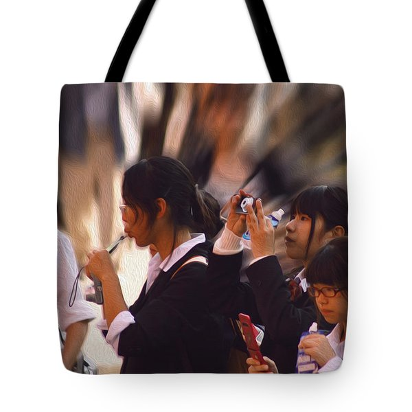 Tote Bag featuring the photograph Jidai Matsuri Vii by Cassandra Buckley