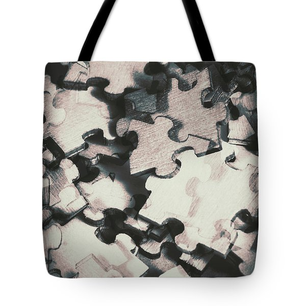 Jigsaws Of Double Exposure Tote Bag