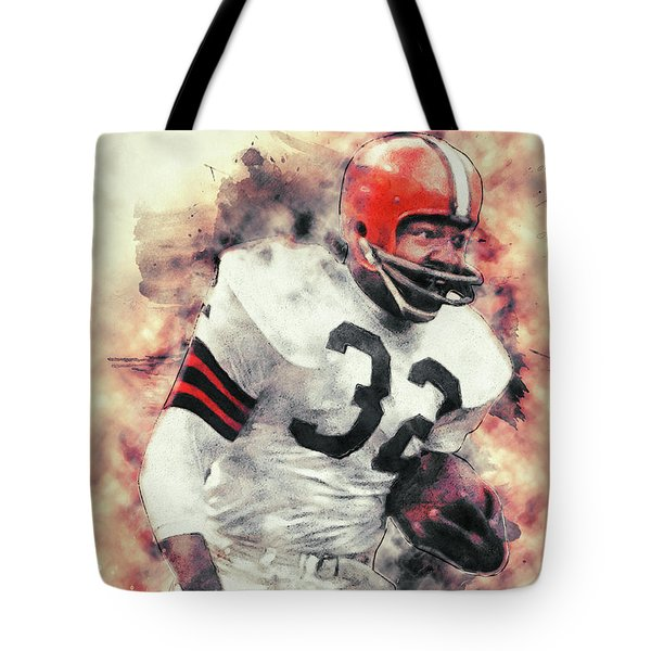 Jim Brown Tote Bag