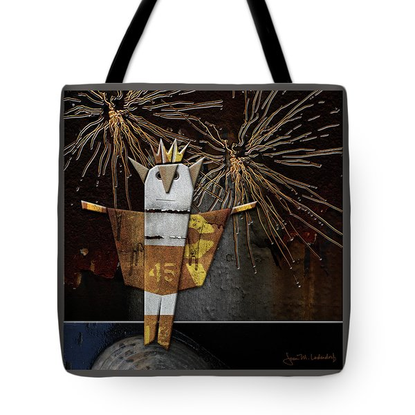 Jim The God Of July Tote Bag by Joan Ladendorf