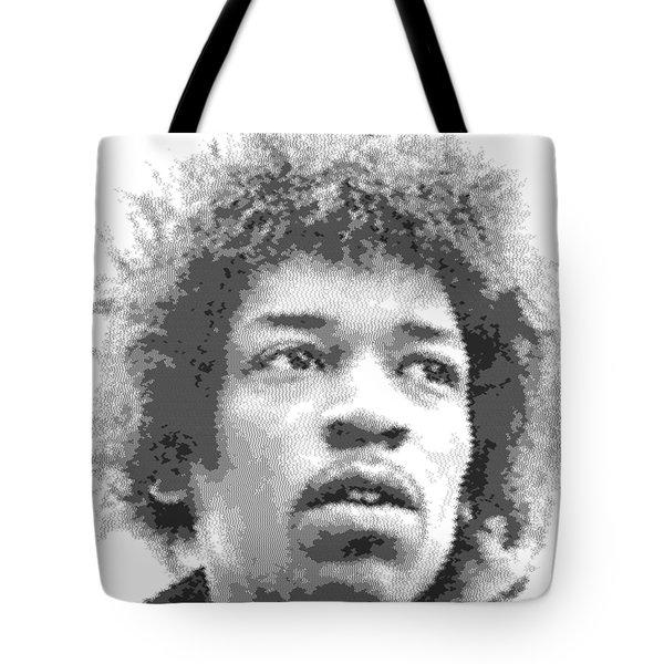 Jimi Hendrix - Cross Hatching Tote Bag