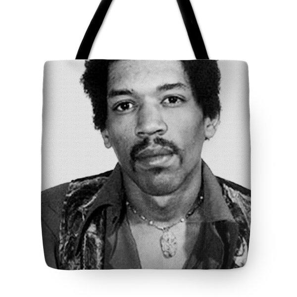 Jimi Hendrix Mug Shot Vertical Tote Bag