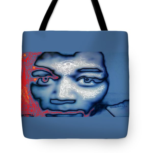 Jimi Hendrix Oh Say, Can You See The Rockets Red Glare Tote Bag