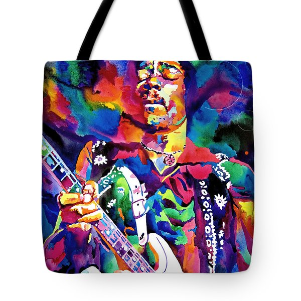 Jimi Hendrix Purple Tote Bag