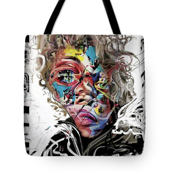 Jimi Hendrix Tote Bag by Russell Pierce