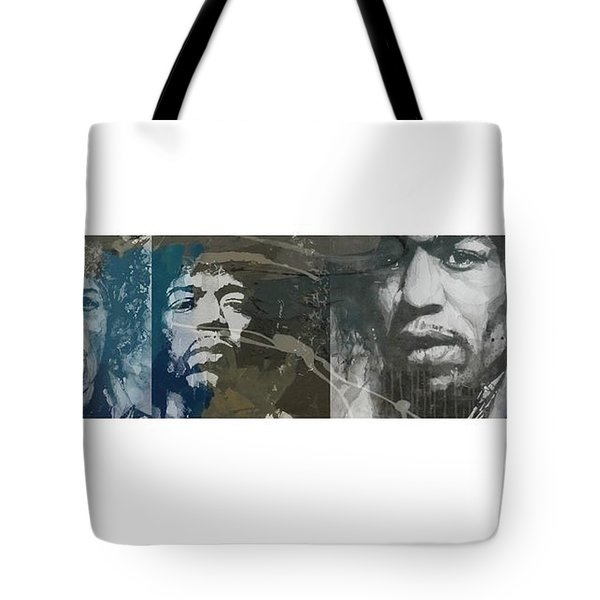 Jimi Hendrix Triptych Tote Bag