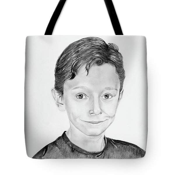 Tote Bag featuring the drawing Jimmy by Mayhem Mediums