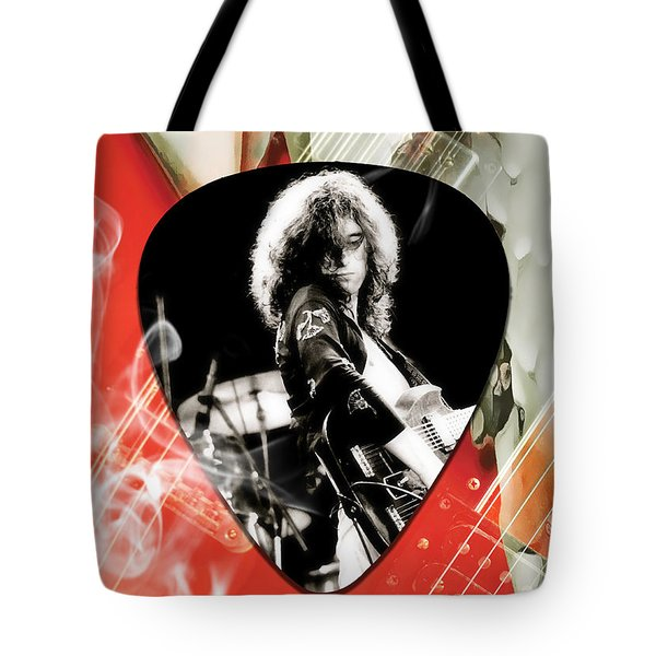 Jimmy Page Art Tote Bag by Marvin Blaine