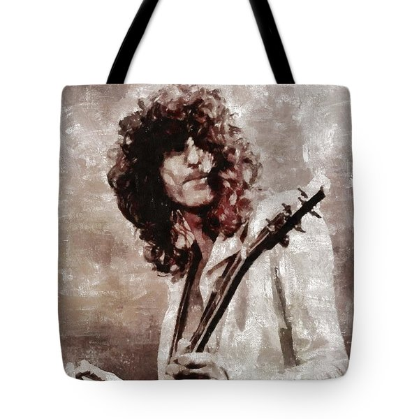 Jimmy Page By Mary Bassett Tote Bag