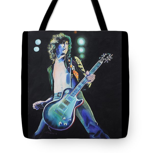 Jimmy Page Tote Bag by Cecilia Brendel
