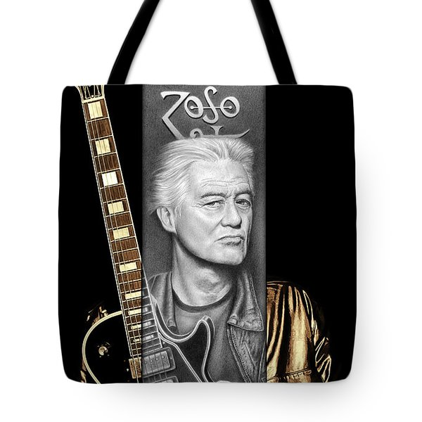 Jimmy Page Drawing Tote Bag