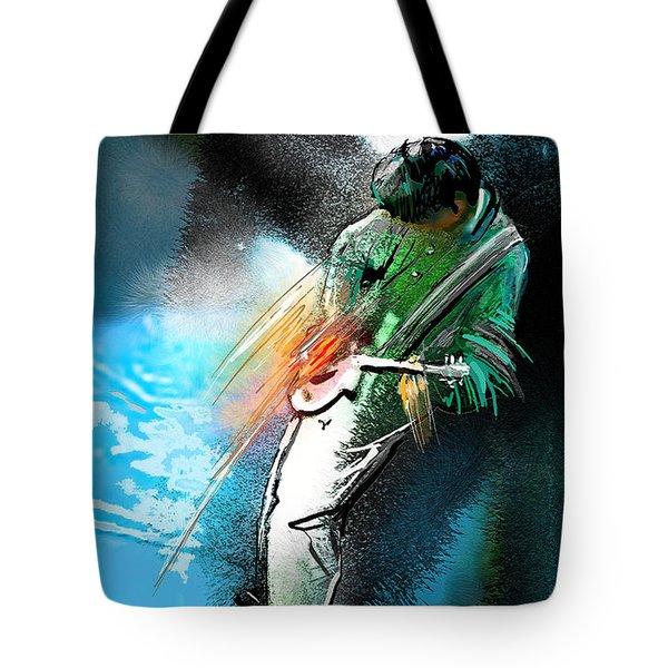 Jimmy Page Lost In Music Tote Bag
