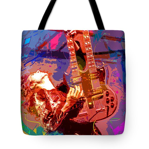 Jimmy Page Stairway To Heaven Tote Bag