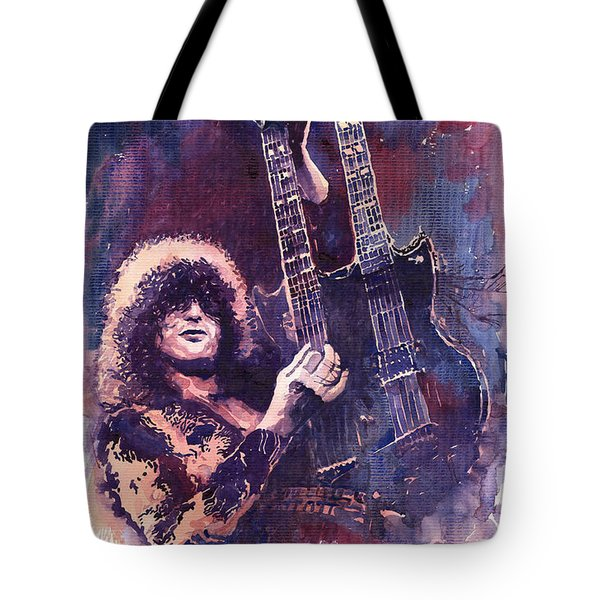Jimmy Page  Tote Bag by Yuriy  Shevchuk