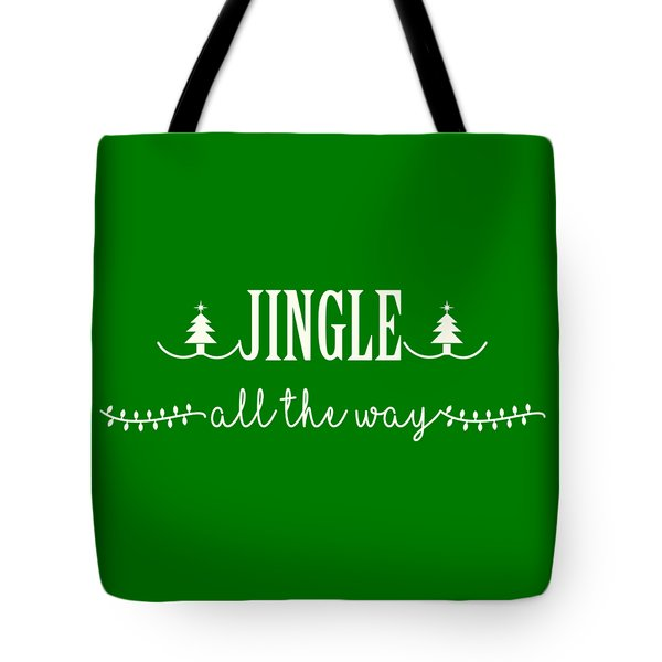 Tote Bag featuring the digital art Jingle All The Way by Heidi Hermes
