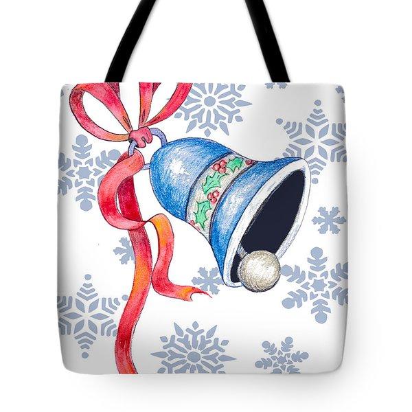 Jingle Bells And Snowflakes On Christmas Day Tote Bag