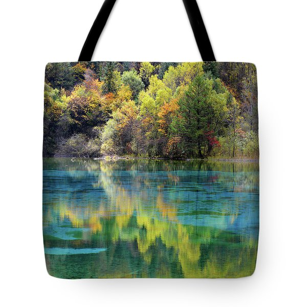 Tote Bag featuring the photograph Jiu Zhai Gou by Yue Wang