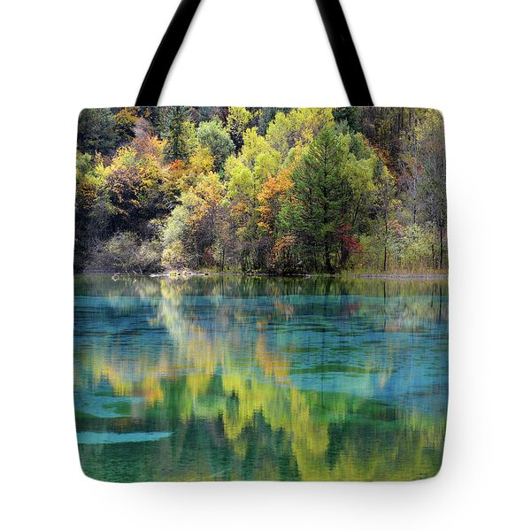 Tote Bag featuring the photograph Jiu Zhai Valley 1 by Yue Wang