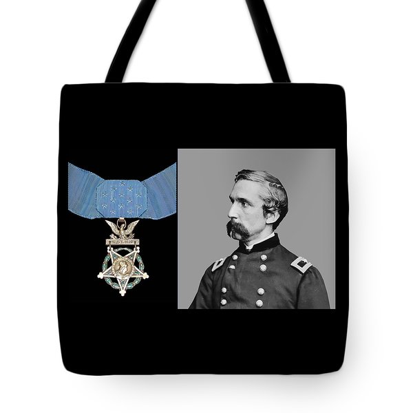J.l. Chamberlain And The Medal Of Honor Tote Bag by War Is Hell Store