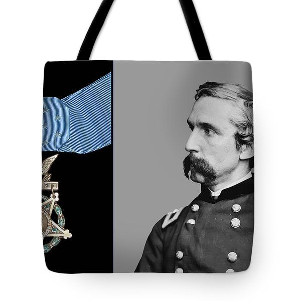 J.l. Chamberlain And The Medal Of Honor Tote Bag