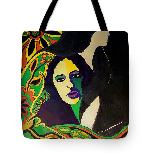 Joan Baez In The Psychodelic Age Tote Bag