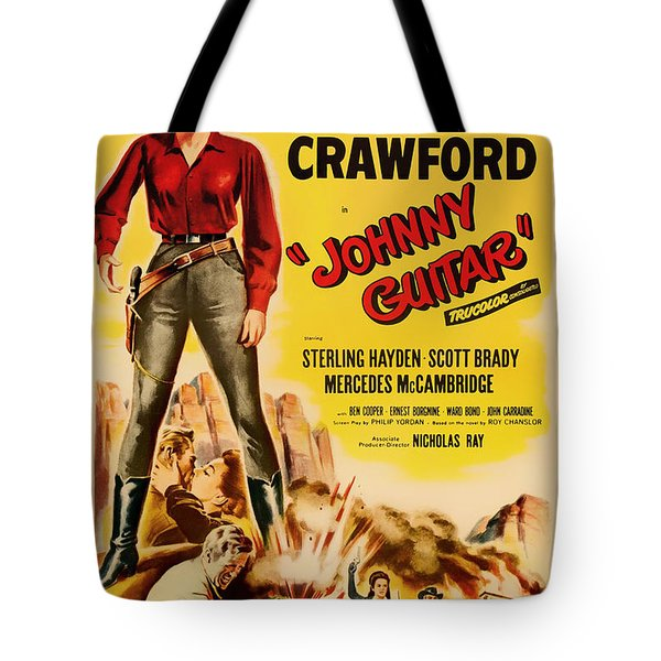 Joan Crawford In Johnny Guitar 1954 Tote Bag