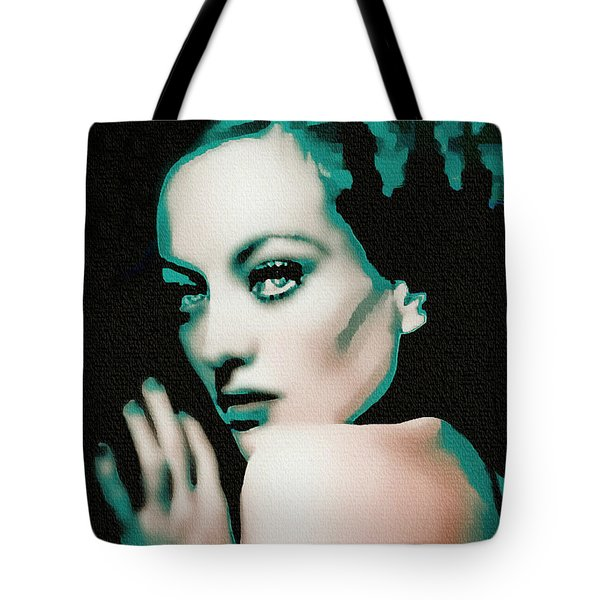 Joan Crawford - Pop Art Tote Bag by Ian Gledhill