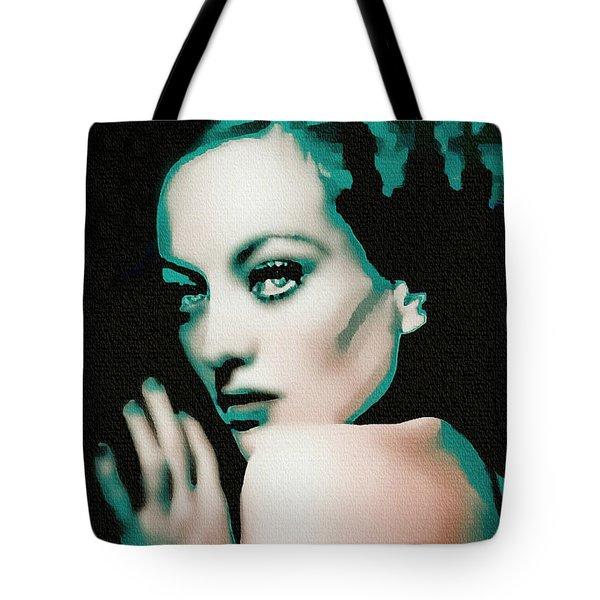 Joan Crawford - Pop Art Tote Bag