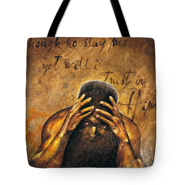 Tote Bag featuring the painting Job by Christopher Marion Thomas