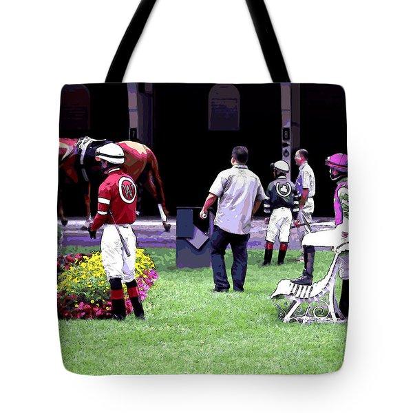 Jockeys Painting Tote Bag