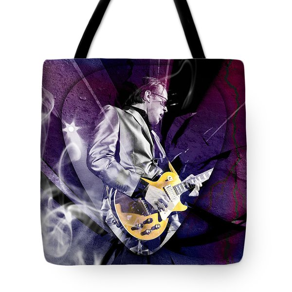 Joe Bonamassa Art Tote Bag by Marvin Blaine